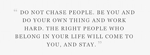 chasing people