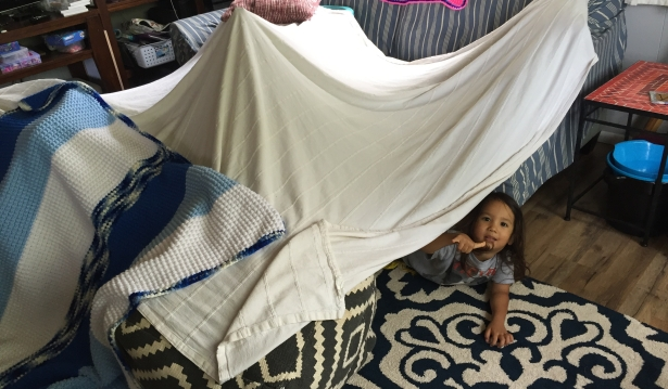 We built a fort