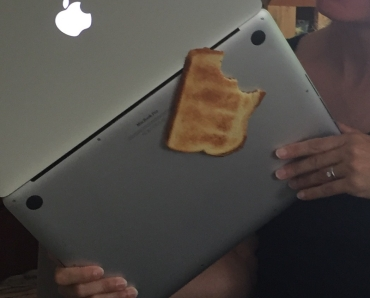 "Skye said, ""Mom, you know you put your computer on the toast?"""